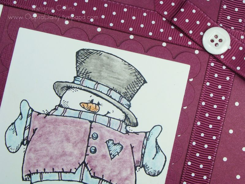Rich Razzleberry Snowman Closeup